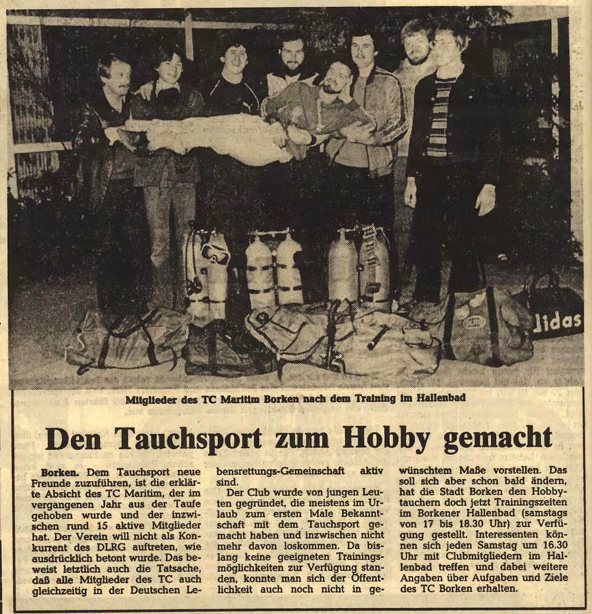 26.03.1981 Den Tauchsport zum Hobby gemacht |Borken, Tauch Club Maritim e.V.