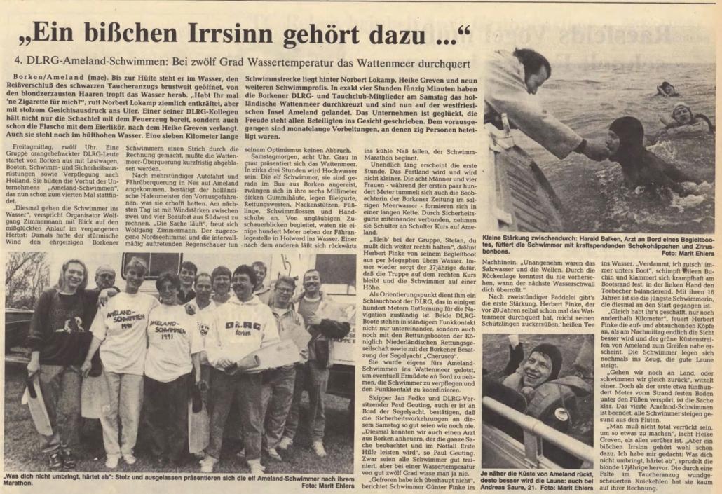 18.06.1991 Ein bißchen Irrsinn gehört dazu |Borken, Tauch Club Maritim e.V.