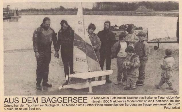 09.05.1992 Aus dem Baggersee |Borken, Tauch Club Maritim e.V.