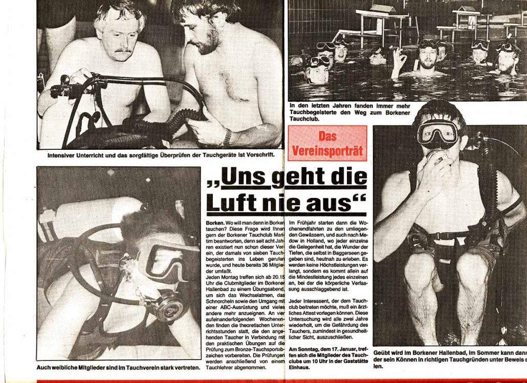 02.01.1995 Uns geht die Luft nie aus |Borken, Tauch Club Maritim e.V.