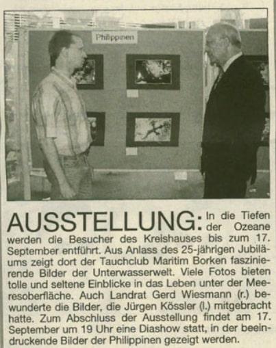 09.09.2004 Ausstellung | Borken, Tauch Club Maritim e.V.