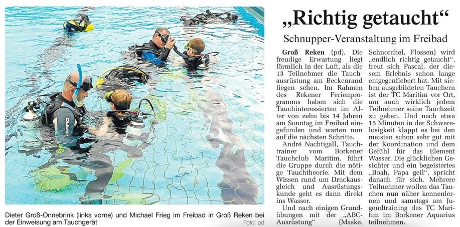 24.08.2010 Richtig getaucht | Borken, Tauch Club Maritim e.V.