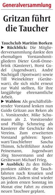 14.02.2015 Gritzan führt die Taucher | Borken, Tauch Club Maritim e.V.